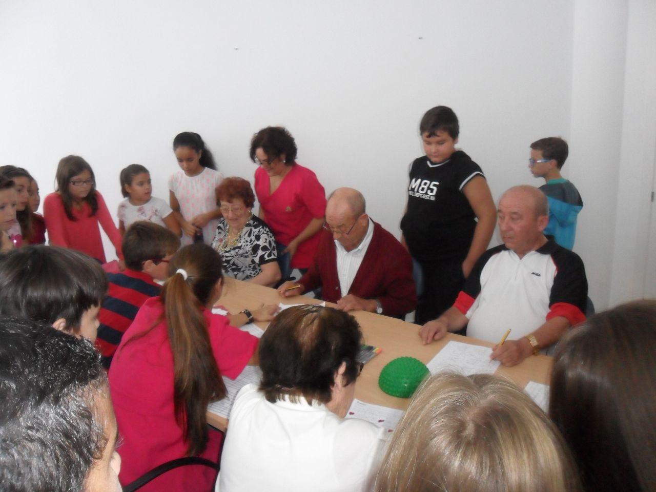Visita de Escolares al centro 2014, usuarios
