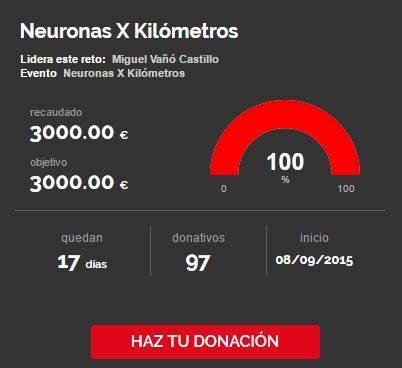 Po fin Neuronas X Kilómetros consigue su reto