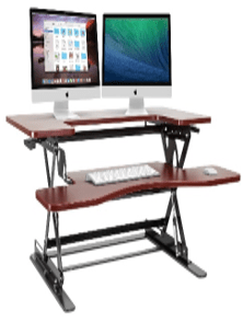 Halter Cherry Height Adjustable 36 Inch Stand Up Desk