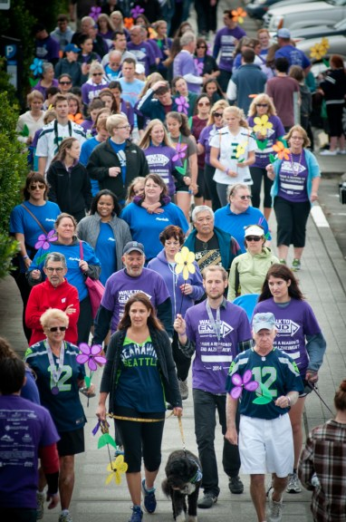 Lori's 12th Man Team walk at the 2014 Seattle Walk to End Alzheimer's.