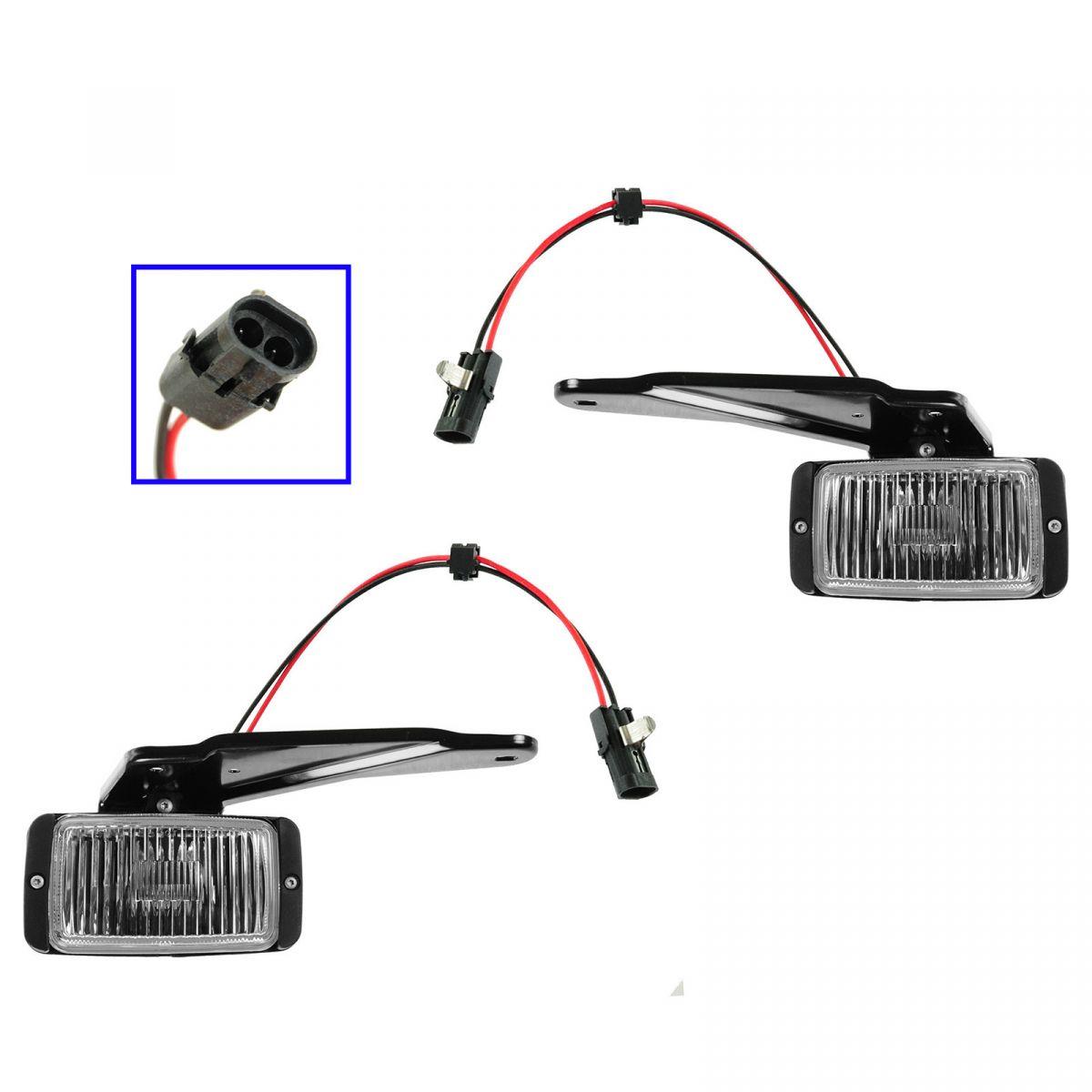 Fog Driving Light Pair Set For 88 98 Chevy Gmc C K