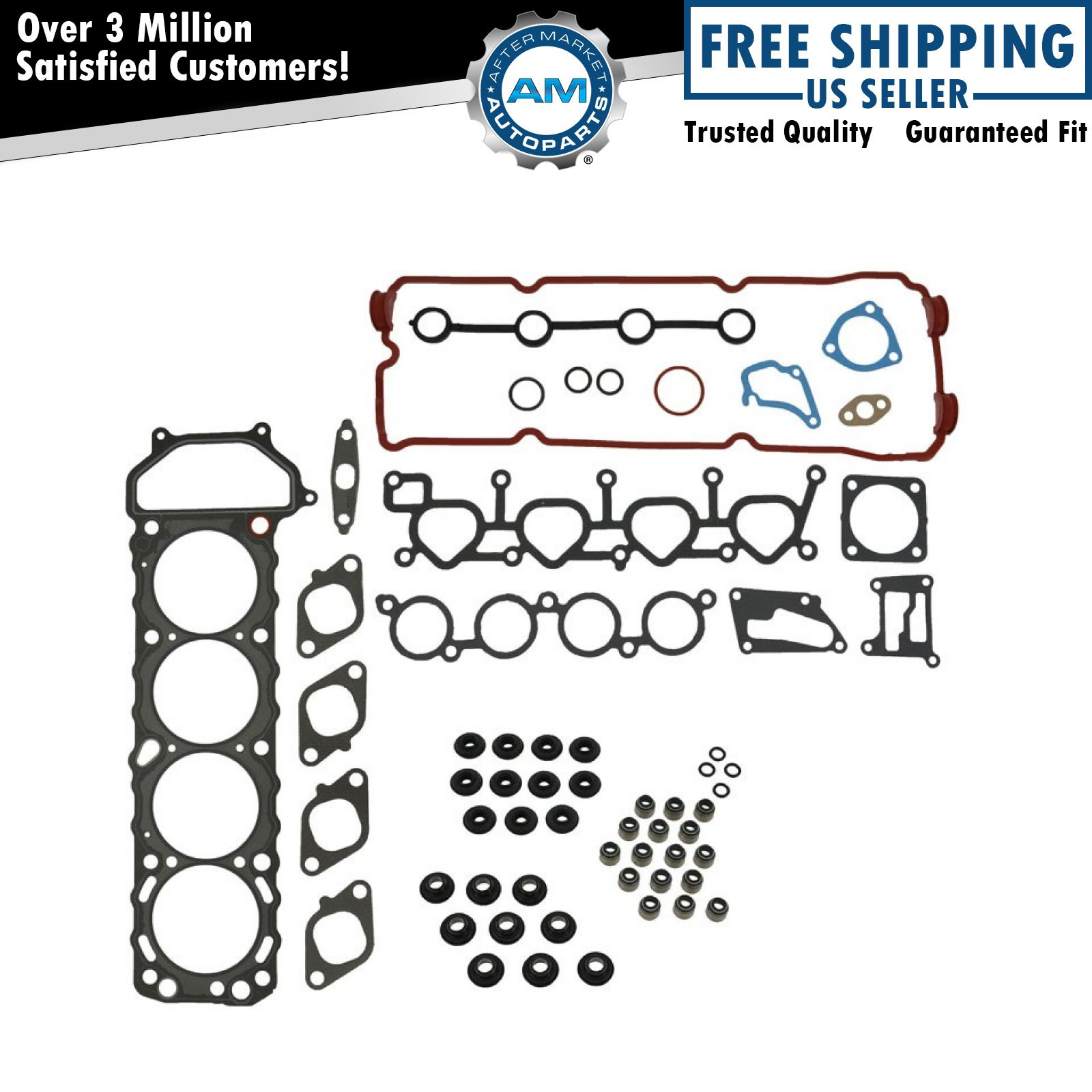 Engine Cylinder Head Gasket Set Kit For 93 01 Nissan Altima 2 4l 4 Cyl Ka24de