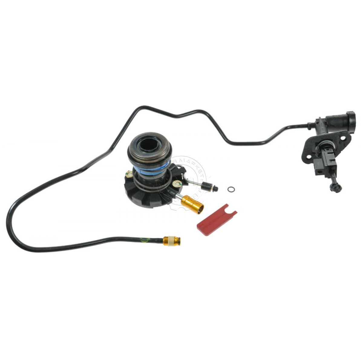 Hydraulic Lines Clutch Slave Amp Master Cylinder Kit For Bronco F150 F250 Pickup