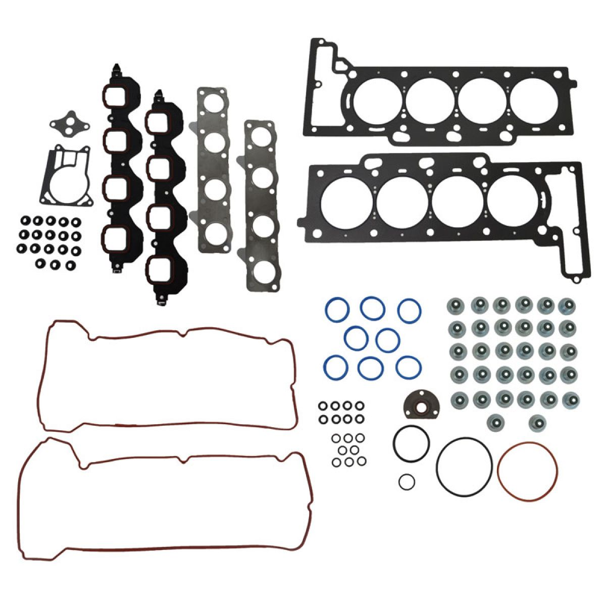 Engine Head Intake Exhaust Manifold Valve Cover Gasket Kit