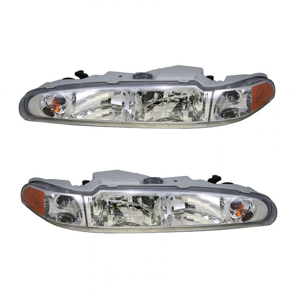 Headlights Headlamps Left & Right Pair Set NEW for 98-02 Olds Intrigue