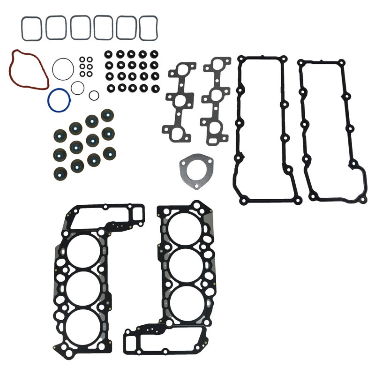 Engine Head Intake Exhaust Manifold Gasket Kit Set For Dodge Truck Jeep 3 7l V6