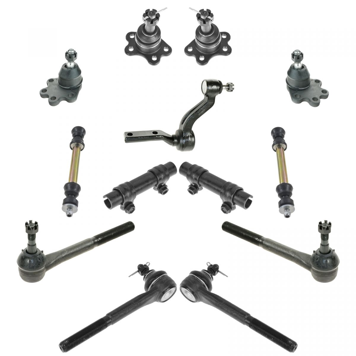 Front Suspension Ball Joints Tie Rods Set Of 13 For 88 92