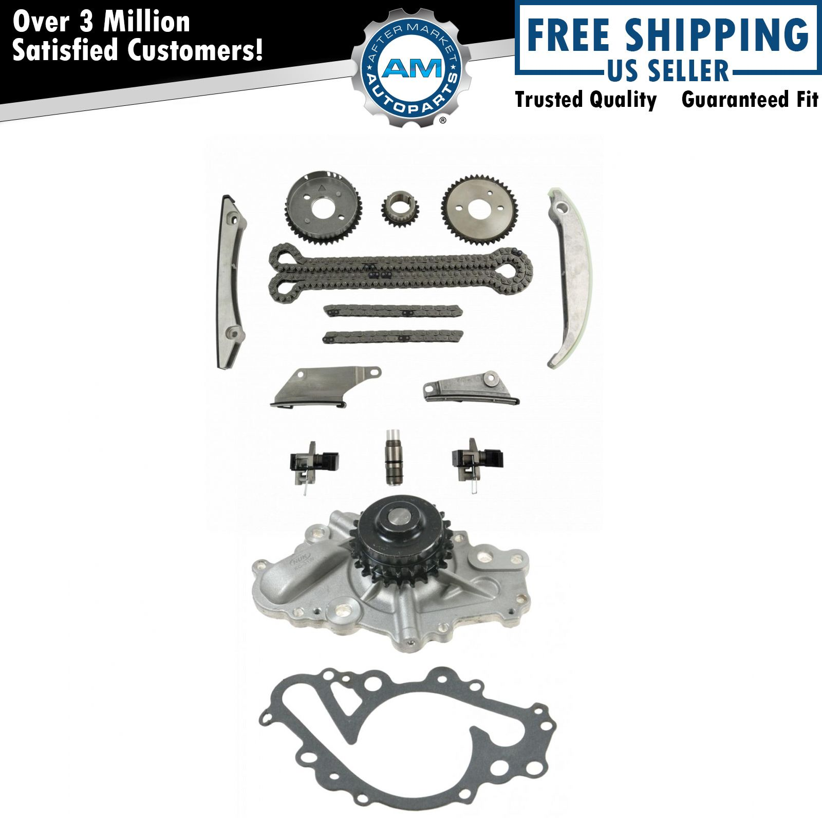 Complete Timing Chain Component Set W Water Pump For Dodge