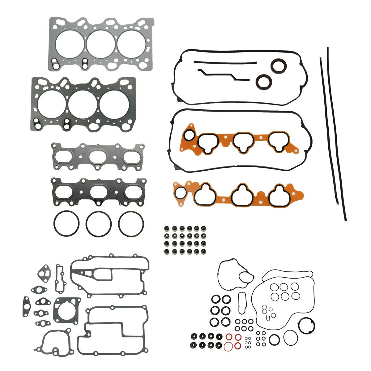 Engine Head Intake Exhaust Manifold Gasket Set Kit For