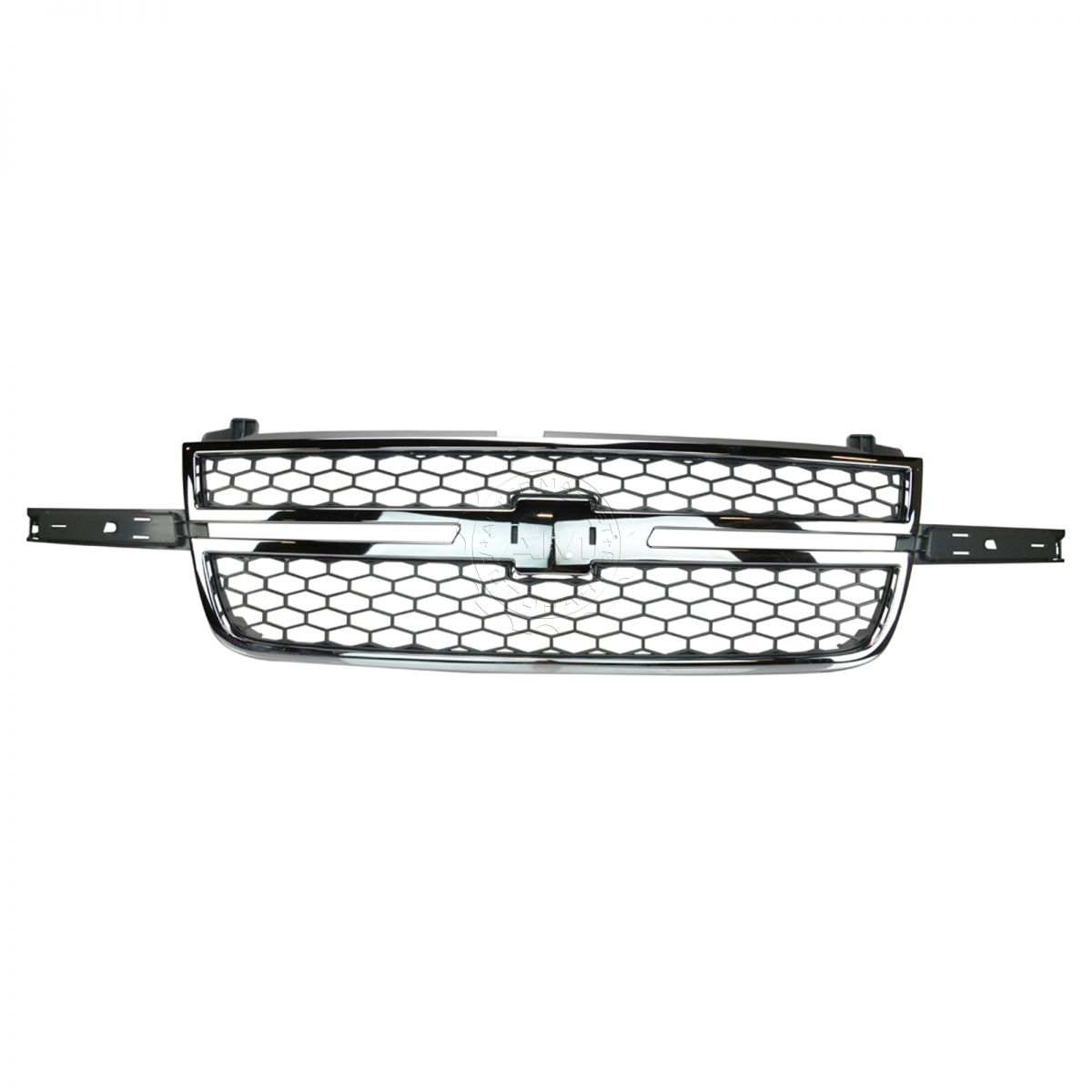 Honeycomb Grille Chrome Amp Gray For Chevy Silverado Pickup
