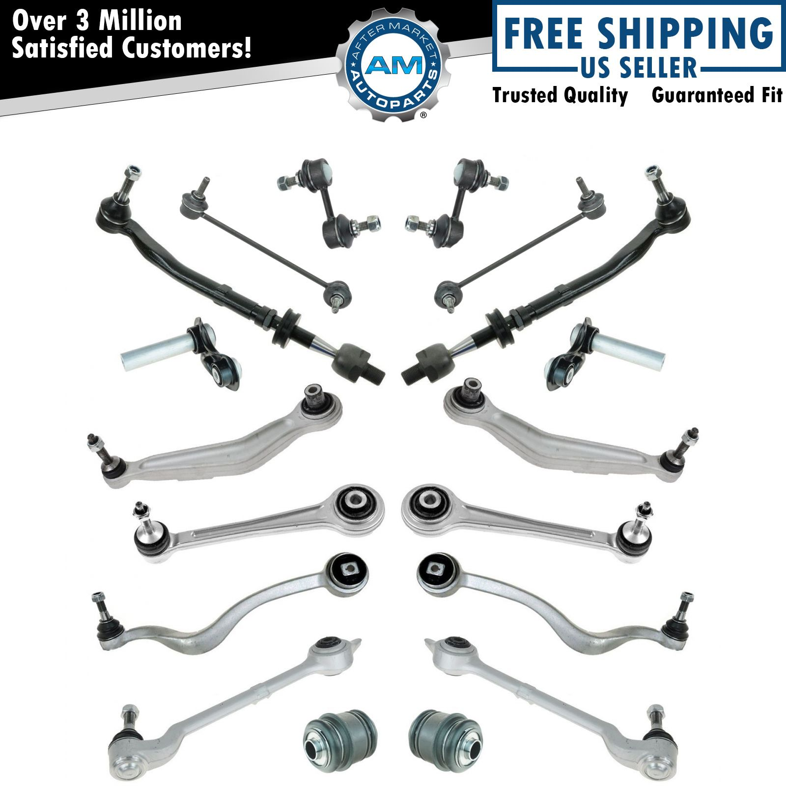 Control Arm Tie Rod Ball Joint Suspension Kit Set For Bmw