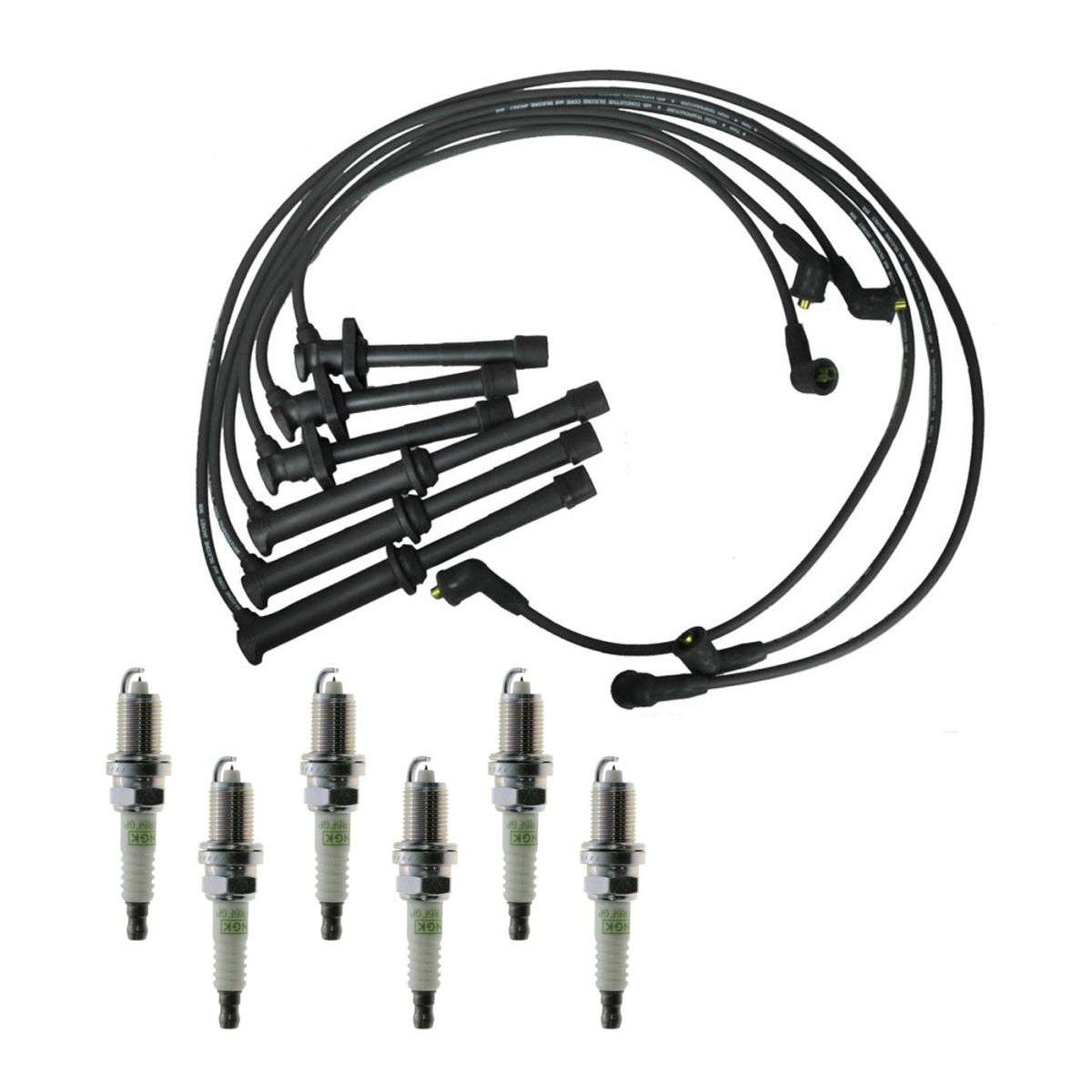 Spark Plugs Ignition Wires Kit For 93 94 Ford Probe 2 5l V6