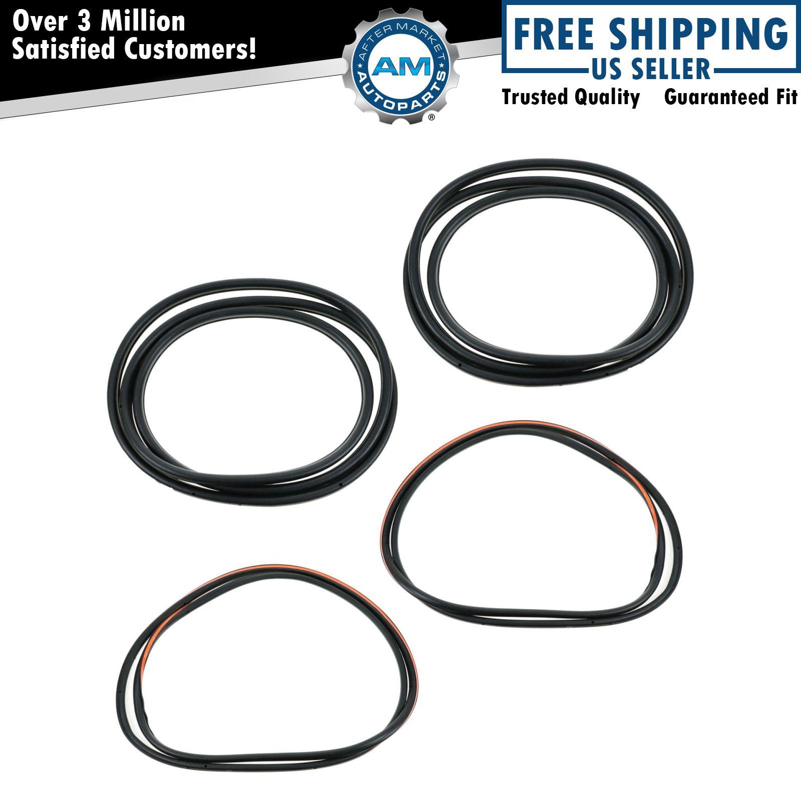 Rubber Door Weatherstrip Seal Kit Set Of 4 For Bmw 525i