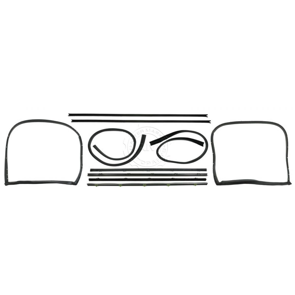 8pc Window Sweep Kit Chrome Bead For 67 72 Gmc Chevy Truck