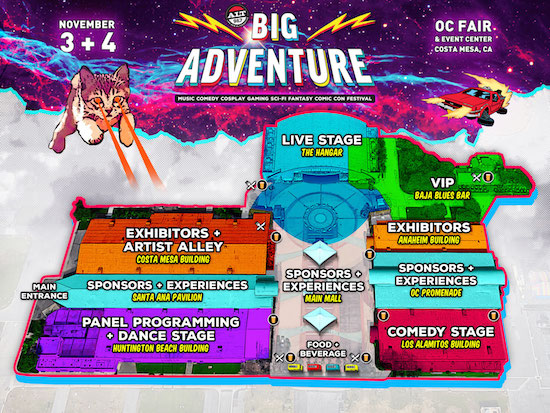 Alt 98.7 Presents Big Adventure festival map