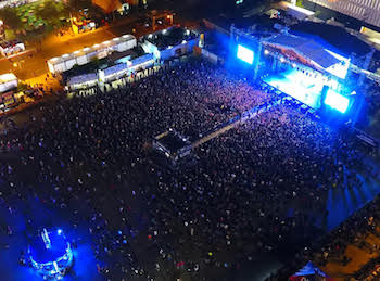 Aerial photo of the Las Rageous 2017 crowd