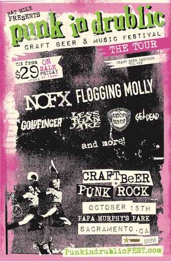 Punk In Drublic Sacramento flyer with band lineup and venue & ticket details