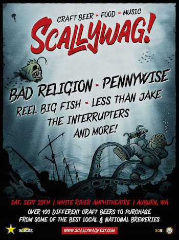 Scallywag! Auburn flyer with band lineup and show details
