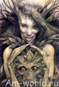Демоны в тайге безбрежной.