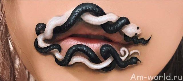Картины на лице или безумный макияж