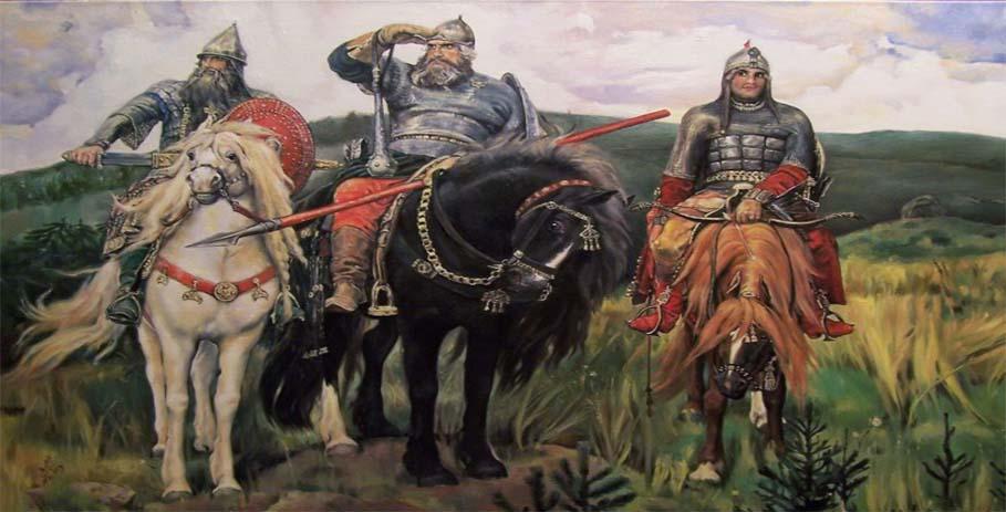 Кто позировал для васнецовских «Богатырей»