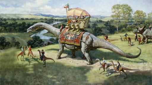 Жил ли человек во времена динозавров?