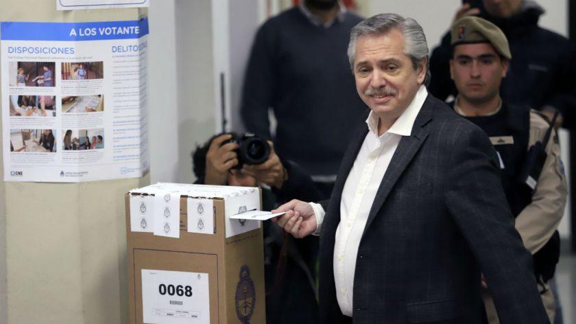 Así votó Alberto Fernández