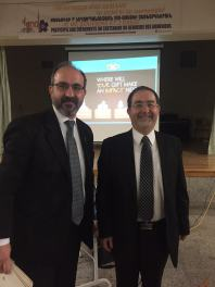 Rev. Hovhannes Sevadjian and Harout Nercessian