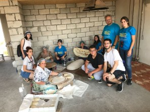 After a hard day's work, the Ayntab team got to see how lavash bread is made