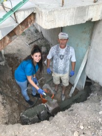 Aintab: Cement work around the church building continues (13 Aug. 2018)