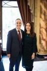 Master of Ceremonies. Mark Vahig Shnorhokian and Banquet Chairwoman, Melina Keosayian