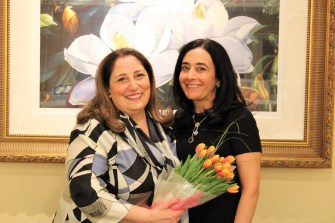 Boston area Orphan and Child Care Committee Co-Chairs Phyllis Dohanian and Susan Adamian Covo.
