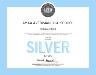 LEED Silver Certificate