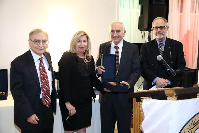 L t R: Dr. Nazareth Darakjian, Dr. Hasmig Baran, Herair Mouradian, Prof. Barkev Kassardjian