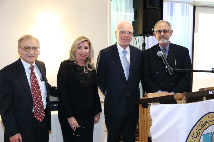 L to R; Dr. Nazareth Darakjian, Dr. Hasmig Baran, Dr. H. Steven Aharonian and Prof. Barkev Kassardjian