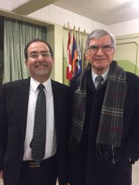 Harout Nercessian and Rev. Dr. Manuel Jinbachian
