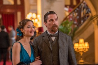 Charlotte Le Bon as Ana Khesarian and Christian Bale as Chris Myers in The Promise