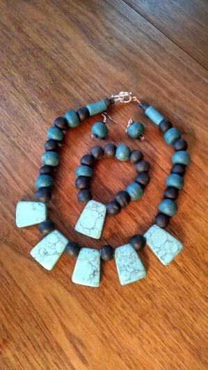 #2 Fancy necklace, bracelet and earring set $40