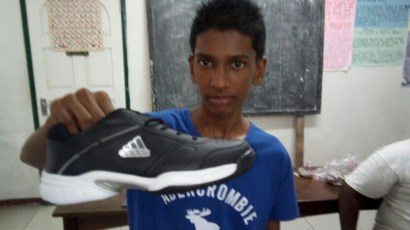 New sneakers for Orphan