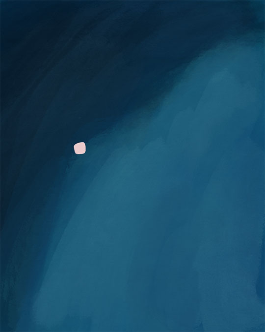 pintura abstracta digital diferentes azules