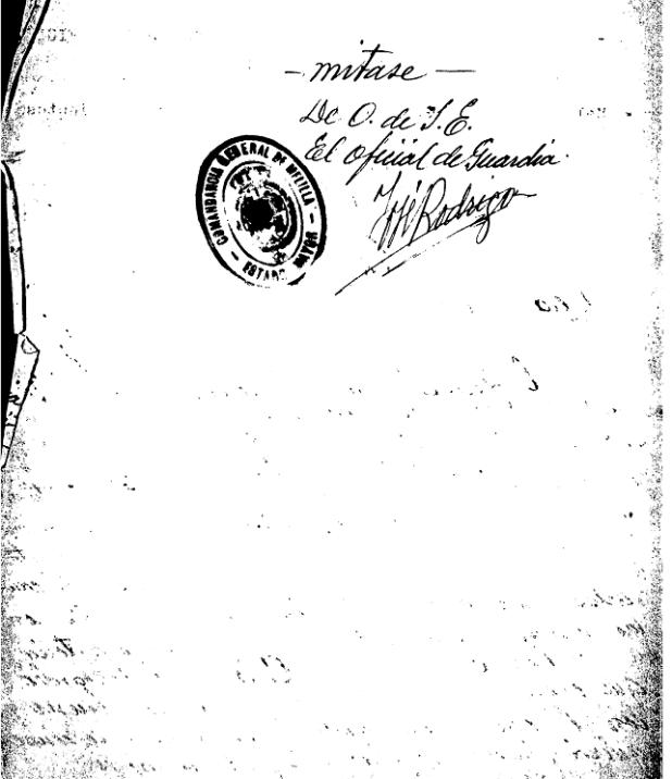 Ordre espagnol d'opérations de bombardements