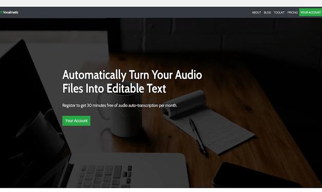 Retranscrire un fichier audio en texte avec VocalMatic.