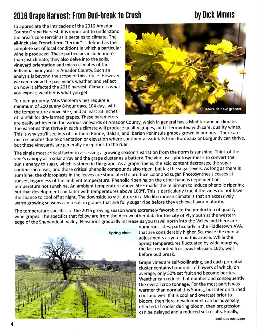 Farms of Amador Winter 2016 Newsletter