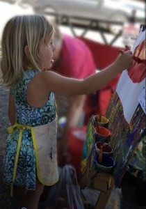 Painting at Amador Farmers Market