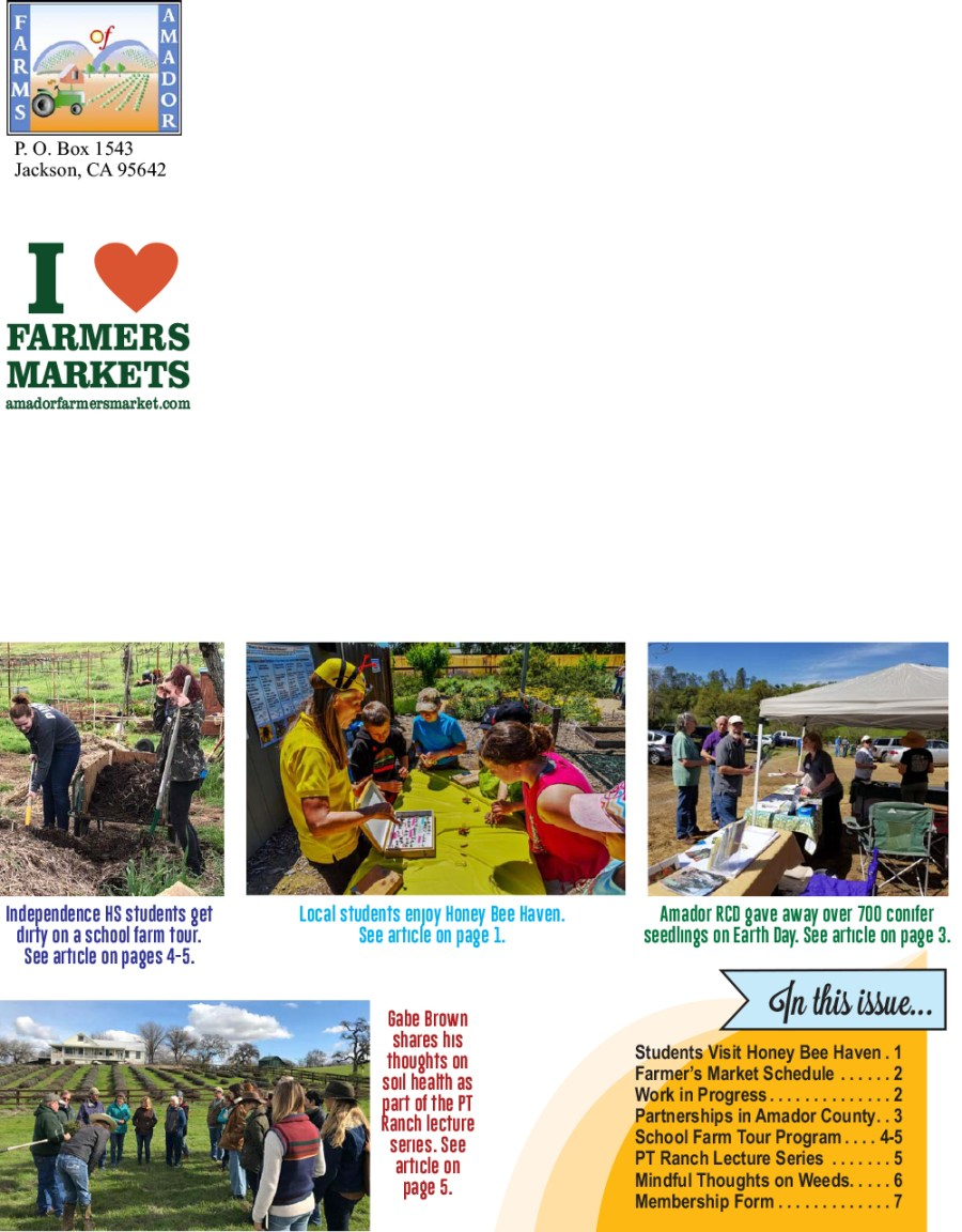 Farms of Amador Spring 2018 Newsletter