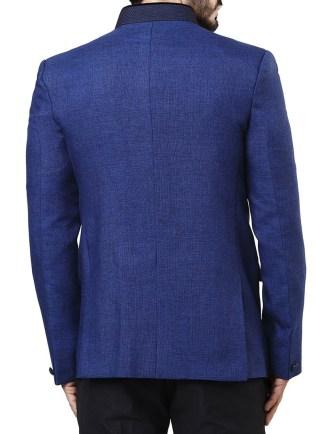 Cobalt Blue Jute Blazer 2