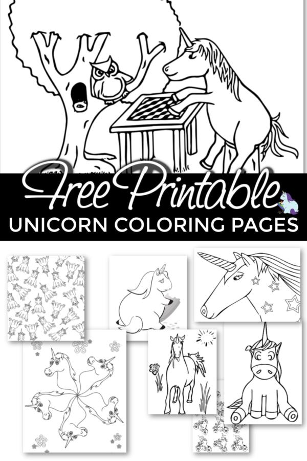 printable unicorn coloring pages # 33