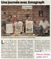 Presse Océan, juillet 2011