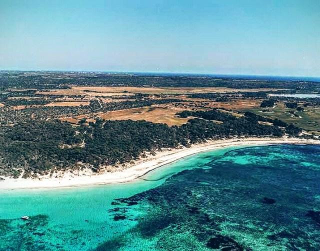 Spiaggia Ses Salines, veduta aerea