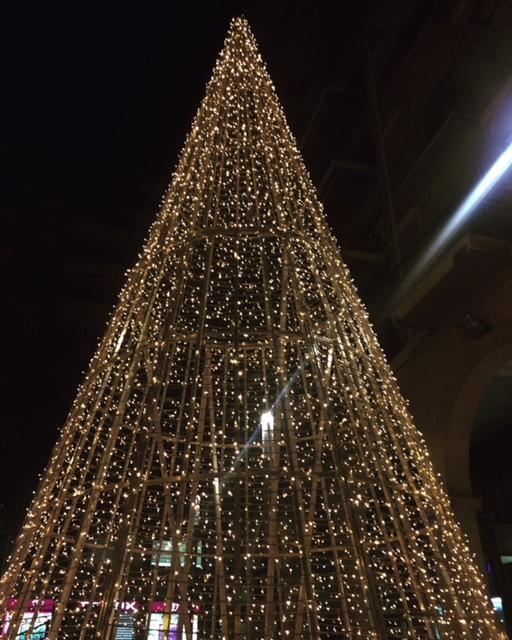 Luminarie natalizie a Palma